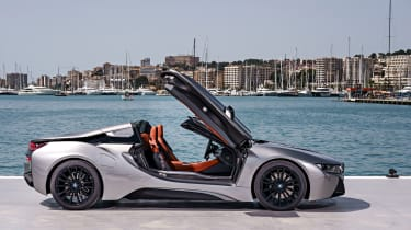 Many see the i8 Roadster as a rival to the Porsche 911 cabriolet and Audi R8 Spyder
