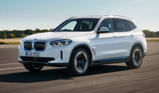 BMW iX3 driving