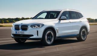 BMW iX3 driving