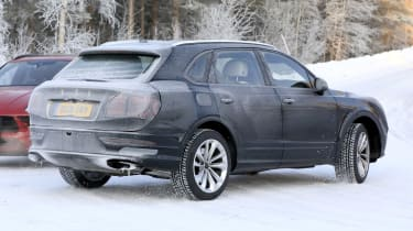 Bentley Bentayga facelift spotted testing - rear
