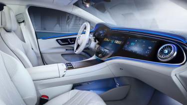 2021 Mercedes EQS interior wide view