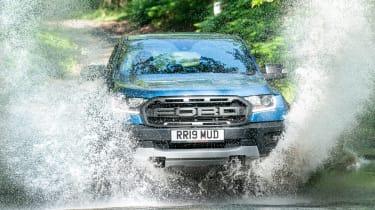 Ford Ranger Raptor pickup water splash