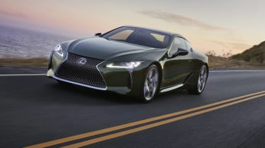 Lexus LC Limited Edition driving