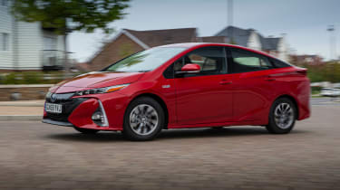 Toyota Prius Plug-in Hybrid hatchback side cornering