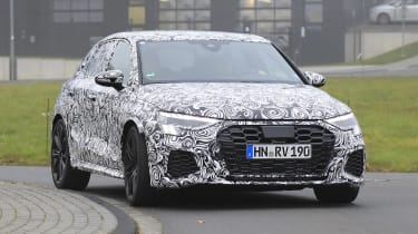 2021 Audi RS3 in camouflage