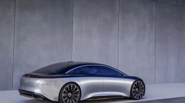 Mercedes EQS concept rear view