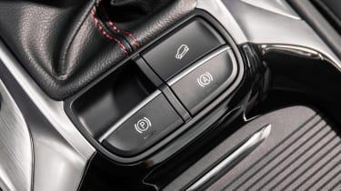 MG HS SUV handbrake controls