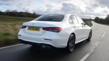 Mercedes E-Class hybrid rear 3/4 tracking