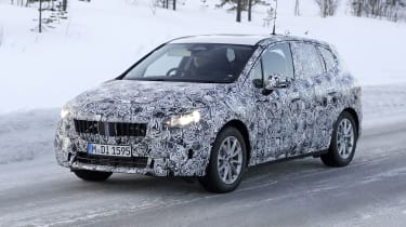 BMW 2 Series Active Tourer in camouflage - front