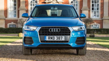 The facelifted Q3 features Audi's 'Singleframe' grille, which is being rolled out across the range