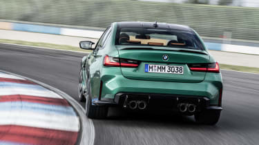 2021 BMW M3 Competition saloon - rear view dynamic