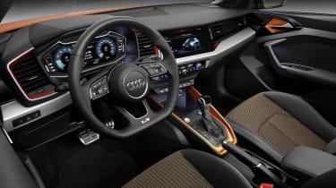 Audi A1 Citycarver interior - side view