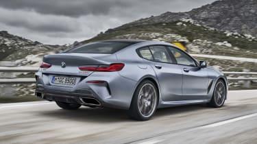 BMW 8 Series Gran Coupe - rear dynamic 3/4 shot