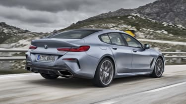 BMW 8 Series Gran Coupe - rear dynamic 3/4 shot
