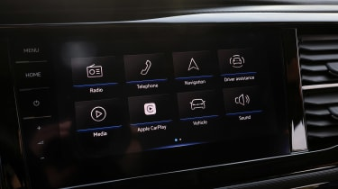 Volkswagen California infotainment display