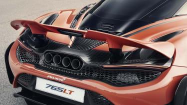 McLaren 765LT - rear spoiler raised