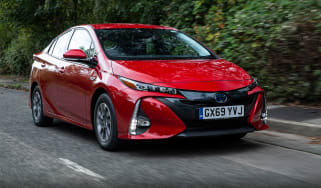 Toyota Prius Plug-in Hybrid hatchback front 3/4 tracking