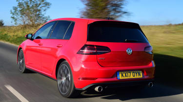 The standard GTI has 227bhp, but a Performance Pack version increases this to 242bhp