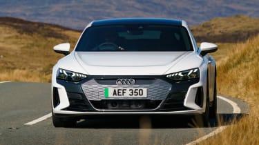Audi e-tron GT saloon front driving