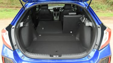 Honda Civic hatchback boot one seat folded