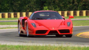 Ferrari used its F1 expertise when designing the Enzo, building it with a carbon-fibre 'tub' & fitting carbon-ceramic brakes