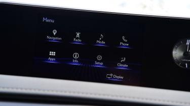 Lexus UX sat nav interior