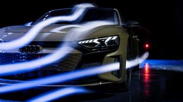 Audi e-tron GT in a wind tunnel
