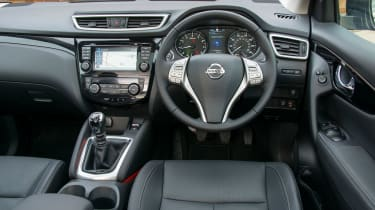 The Qashqai is family-friendly with a large boot and plenty of interior storage