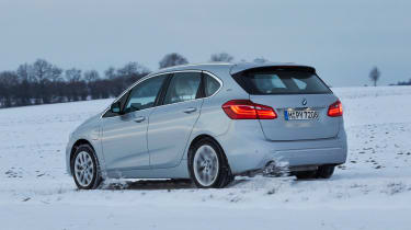 With a 1.5-litre petrol engine and electric motor, the 225xe iPerformance Active Tourer has four-wheel-drive