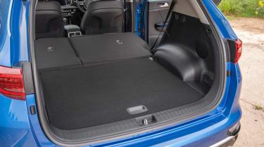 Kia Sportage SUV boot seats folded