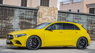The A 35 isn't a direct replacement for the outgoing A 45 –a new version of that car is expected to arrive in due course