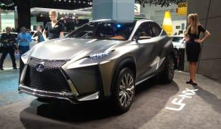 Lexus LF-NX concept front quarter static