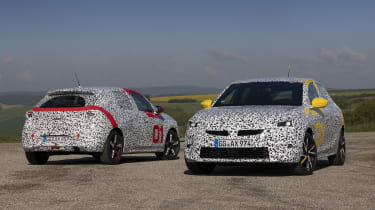 Vauxhall Corsa prototype - manual and automatic static