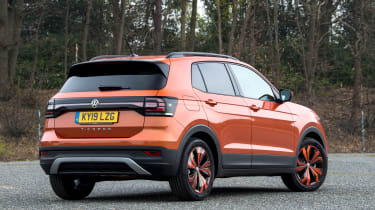 Volkswagen T-Cross SUV rear 3/4 static
