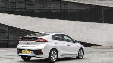 The Ioniq is fairly conservatively styled outside, too, but still looks fairly smart