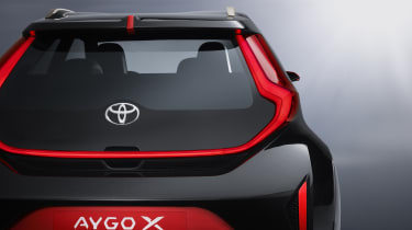 Toyota Aygo X Prologue rear end detail
