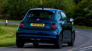 Fiat 500 electric rear cornering