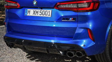 BMW X5 M Competition rear end detail