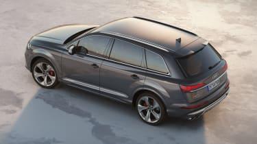 Audi SQ7 TDI - Static rear 3/4 aerial view