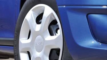 Most versions of the Logan MCV are fitted with steel wheels, but alloys are an optional extra