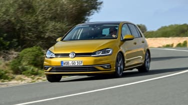 VW Golf front driving