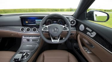 Inside, the E 63 offers the same luxurious, well designed interior as other E-Class models
