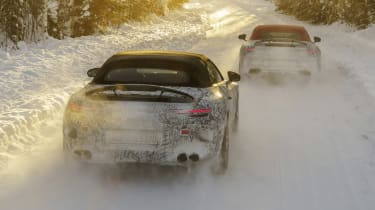 2021 Mercedes SL winter testing - rear