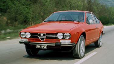Based on the humble Alfetta saloon. the sleek GTV became a true classic once the famous Alfa Romeo V6 was installed
