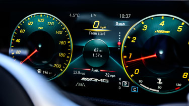 Mercedes-AMG CLA 45 saloon digital instruments