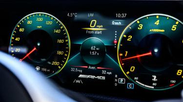 Mercedes-AMG CLA 45 saloon digital instruments