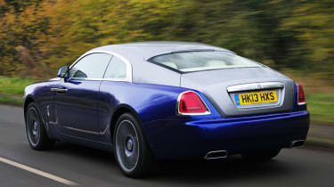 The Wraith is designed to be driven, unlike the Rolls-Royce Phantom, where the owner is usually found in the back