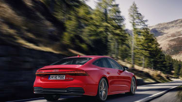 Audi A7 plug-in hybrid driving -rear view