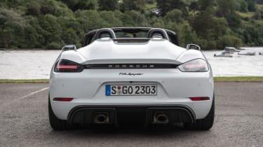 Porsche 718 Boxster Spyder rear view