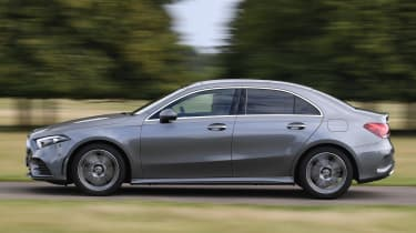 Mercedes A-Class saloon side panning